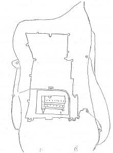 Walcourt, plan manuscrit (XVIIe siècle)