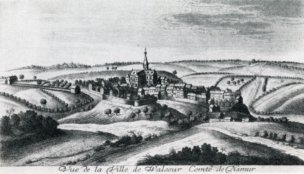Une région vallonnée Walcourt par Remacle Le Loup, 1744