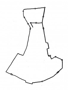 Reconstitution des remparts d'après Guicciardini, 1567