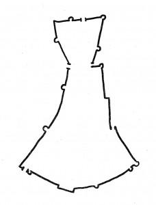 Reconstitution des remparts d'après un plan manuscrit du XVIIe Siècle