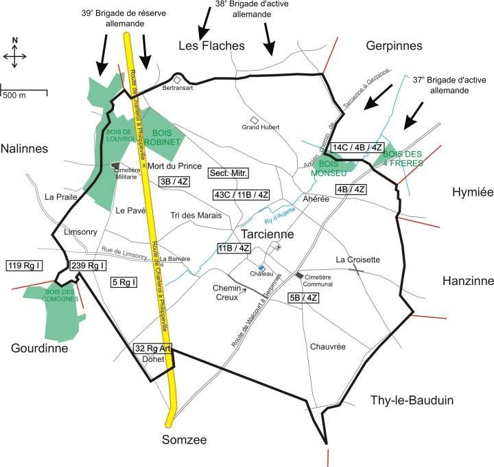 bataille de Tarciennes: Cimetière militaire