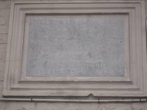 bataille de Tarciennes: Plaque commémorative Prince Von Sachsen-Meiningen