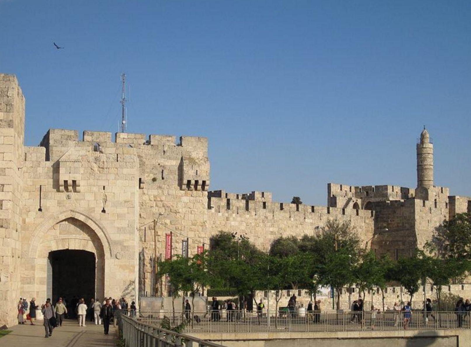 La porte de Jaffa ou porte de la Tour de David