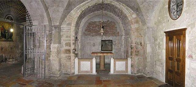 Chapelle d'Adam sous la chapelle du Calvaire.